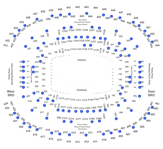Dallas Cowboys Football Season Tickets (Includes Tickets To All Regular Season Home Games) at AT&T Stadium