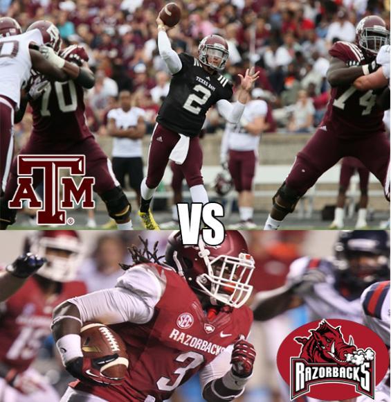 Arkansas Razorbacks vs. Texas A&M Aggies at AT&T Stadium