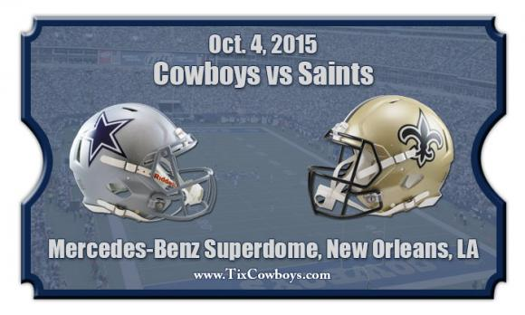 Dallas Cowboys vs. New Orleans Saints at AT&T Stadium
