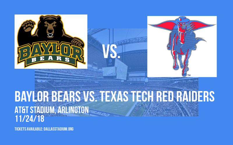 Baylor Bears vs. Texas Tech Red Raiders at AT&T Stadium