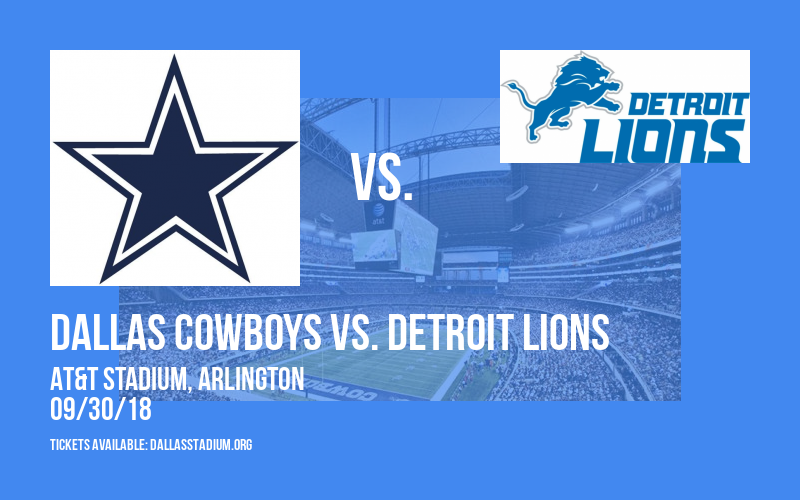 Dallas Cowboys vs. Detroit Lions at AT&T Stadium