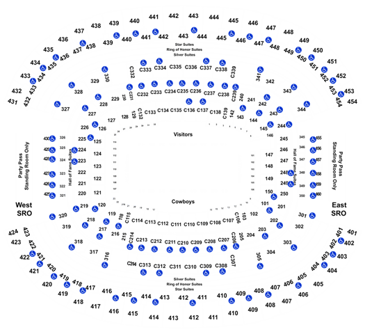 2020 Dallas Cowboys Season Tickets (Includes Tickets To All Regular Season Home Games) at AT&T Stadium