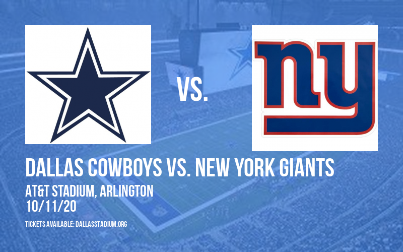 Dallas Cowboys vs. New York Giants at AT&T Stadium