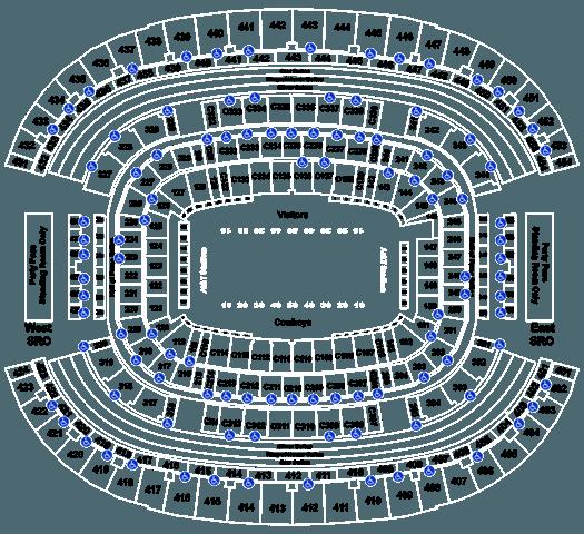 Dallas Cowboys Football Season Tickets (Includes Tickets To All Regular Season Home Games) at AT&T Stadium