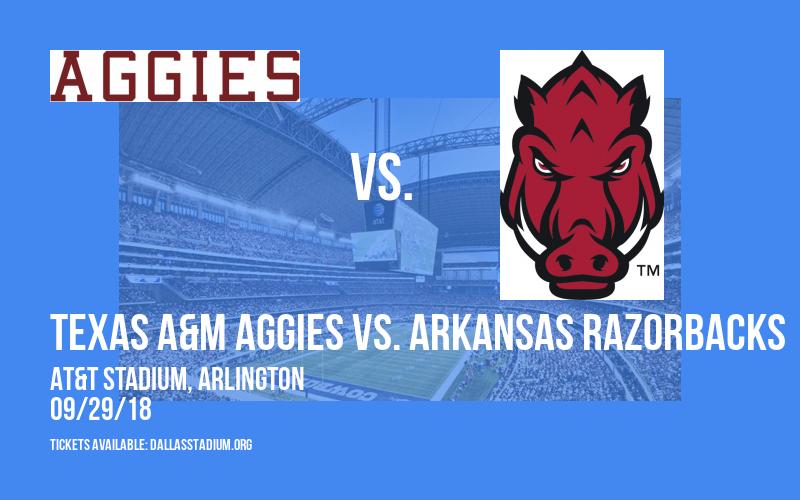 Southwest Classic: Texas A&M Aggies vs. Arkansas Razorbacks at AT&T Stadium