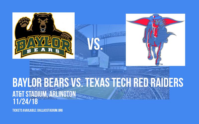Baylor Bears vs. Texas Tech Red Raiders at AT&T Stadium
