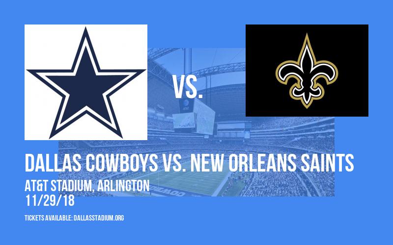 Dallas Cowboys vs. New Orleans Saints at AT&T Stadium