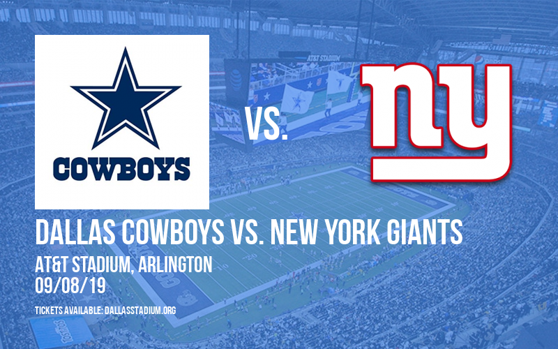 more photos d6a61 13f10 Dallas Cowboys vs. New York Giants Tickets | 8th September ...
