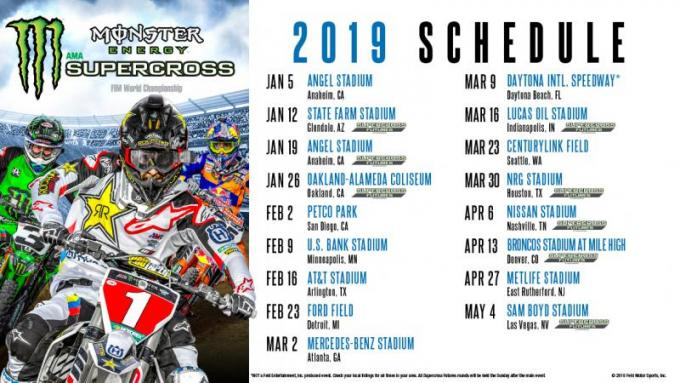 AMA Monster Energy Supercross at AT&T Stadium