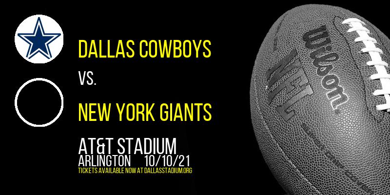 Dallas Cowboys vs. New York Giants at AT&T Stadium